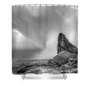 Monochrome Landscape Project 5 Shower Curtain