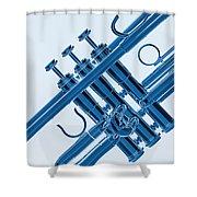 Monochrome Trumpet Shower Curtain