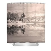 Monotone Winter Shower Curtain