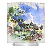 Monpazier In France 01 Shower Curtain