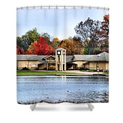 Monroe Falls Park Shower Curtain