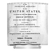 Monroe: Title Page, 1798 Shower Curtain