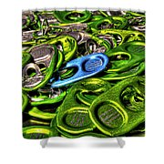 Monster Can Tabs Detroit Mi Shower Curtain