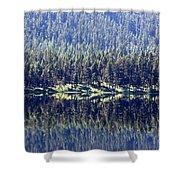 Montana Lake Reflection Shower Curtain