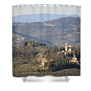 Montegufoni Castle Shower Curtain