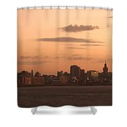 Montevideo Skyline At Sunrise Shower Curtain