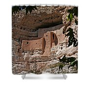 Montezuma Castle Cliff Dwellings In The Verde Valley Of Arizona Shower Curtain