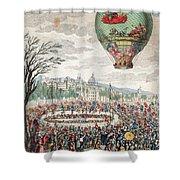 Montgolfier Balloon Le Flesselles Shower Curtain