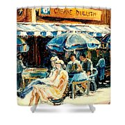 Montreal Cafe City Scenes Prince Arthur And Duluth Street Shower Curtain