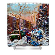 Montreal Hockey Paintings Shower Curtain