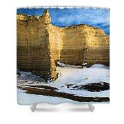 Monument Rocks Castle Shower Curtain
