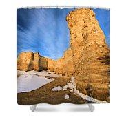 Monument Rocks In Kansas Shower Curtain