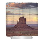Monument Valley - East Mitten Butte Shower Curtain