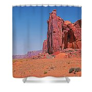Monument Valley Elrphant Butte And Hogan Shower Curtain