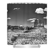Monument Valley In Monochrome  Shower Curtain