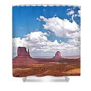 Monument Valley Pano Shower Curtain