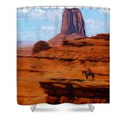 Monument Valley Pastel Shower Curtain