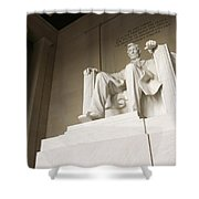 Monumental Statue Of Abraham Lincoln Shower Curtain