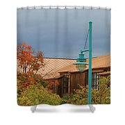 Moody Sky On Copper Shower Curtain