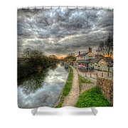 Moody Sunset At The Boat Inn Shower Curtain
