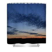 Moon And Clouds At Dusk Shower Curtain