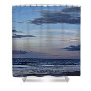 Moon Beach Shower Curtain
