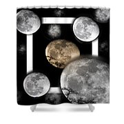 Moon From The Country Shower Curtain