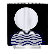 Moon On Water Shower Curtain