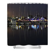 Moon Over The Marina Shower Curtain