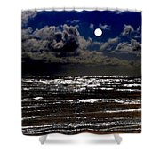 Moon Over The Pacific Shower Curtain