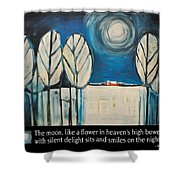 Moon Quote Poster Shower Curtain