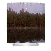 Moon Reflection Shower Curtain