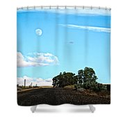 Moon Road Shower Curtain