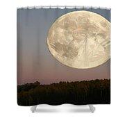 Moon Warrior Shower Curtain