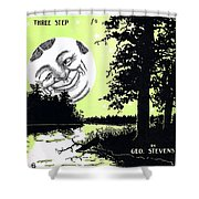 Moon Winks Shower Curtain