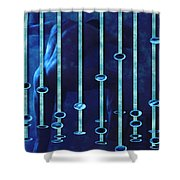 Moonlight Blue Shower Curtain