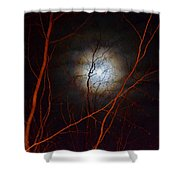 Moonlight By The Camp Fire Shower Curtain