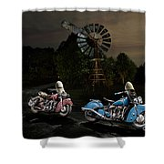 Moonlight Indian Chief Shower Curtain