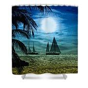 Moonlight Sail - Key West Shower Curtain