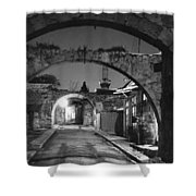 Moonlight View Of Market Street, Odos Shower Curtain