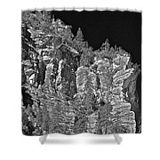 Moonlit Cliffs Shower Curtain
