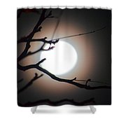 Moonlit Pink Shower Curtain