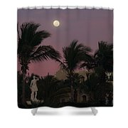 Moonlit Resort Shower Curtain