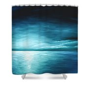 Moonrise II Shower Curtain by James Christopher Hill