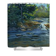 Moonrise On The River Shower Curtain