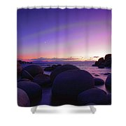 Moonrise Over Tahoe Shower Curtain