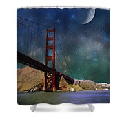 Moonrise Over The Golden Gate Shower Curtain