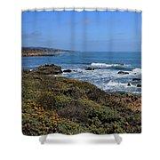 Moonstone Beach Shower Curtain by Heidi Smith