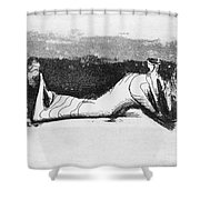 Moore: Reclining Figure Shower Curtain