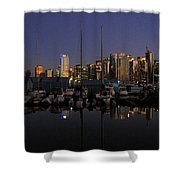 Moored For The Night Shower Curtain